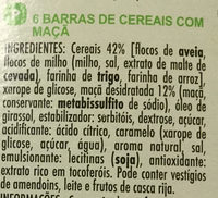 Barres de céréales - Ingredients