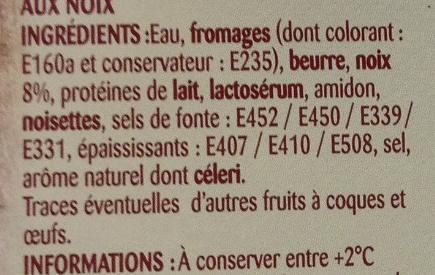 Spécialité aux noix - Ingredients - fr