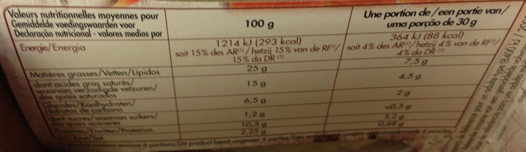 Spécialité aux noix - Nutrition facts - fr