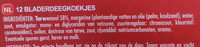 Palmiers feuilletés croustillants - Ingrediënten