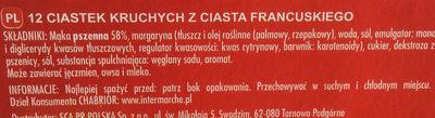 Feuilletés palmiers croustillants - Składniki - pl