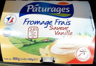 Fromage frais saveur vanille 2.7% mat. gr. dans le produit fini Pâturages - Product