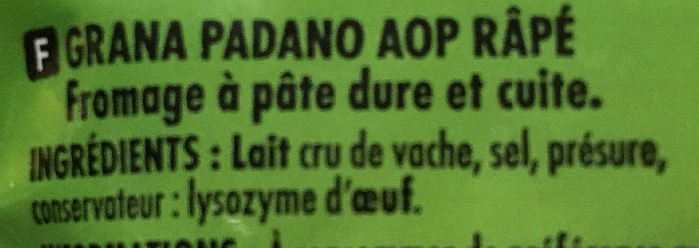 Grana Padano AOP - 100 g - Itinéraire des Saveurs - Inhaltsstoffe