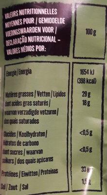Grana Padano AOP râpé - Informations nutritionnelles - fr