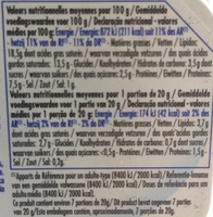 Pâturages Naturais - Nutrition facts - fr