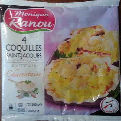4 Coquilles Saint-Jacques, Recette à la Charentaise, Surgelé - Produit - fr