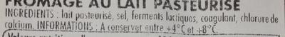Tommette de Domessin - Ingredients - fr