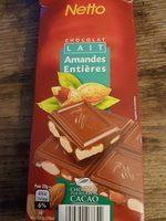 Chocolat Lait Amandes Entières - Product - fr