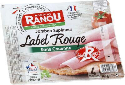Jambon supérieur sans couenne label rouge - Produit - fr