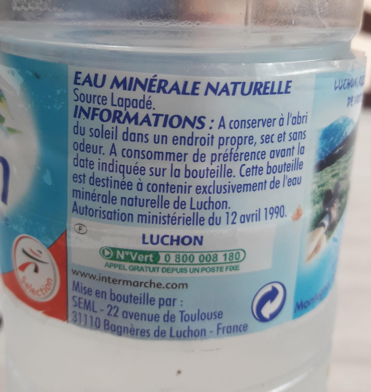 eau minérale naturelle de luchon - Ingredients - fr