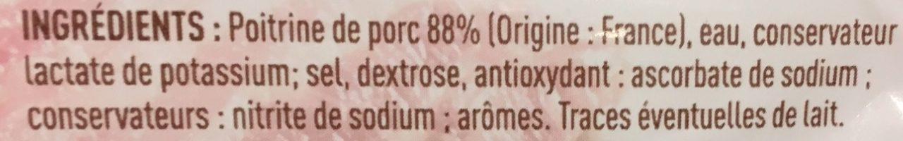 Poitrine nature - Ingrédients