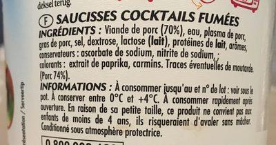 Mini Knacks - Ingrediënten - fr
