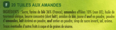 Tuiles aux Amandes - Ingredients