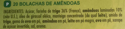 Tuiles aux Amandes - Ingredientes