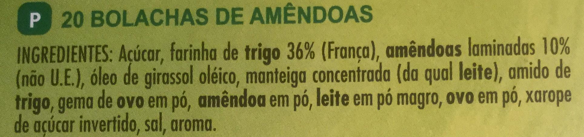Tuiles aux Amandes - Ingredients