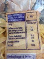 Spaghetti, Coquillettes, Torsades, Papillons, Macaroni, Nids, Nouilles bouclées, Penne - Voedingswaarden - fr