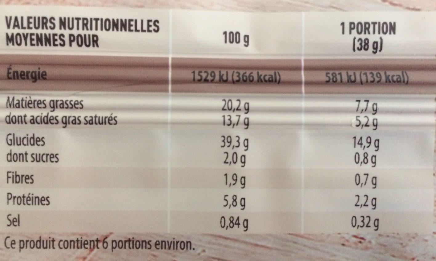Pâte Feuilletée Pur Beurre - Voedingswaarden - fr