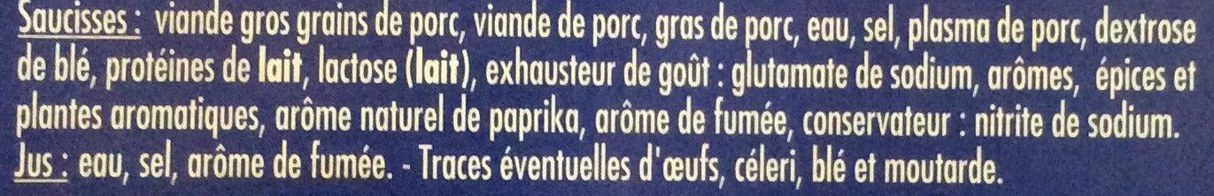 Saucisses Cocktail Nature - Ingrédients - fr