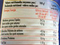 Saucisses Cocktail Nature - Informations nutritionnelles - fr