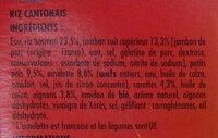Riz Cantonais - Ingrediënten - fr