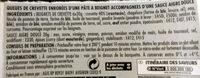 6 Beignets Crevette et Sauce Aigre-Douce - Ingrédients