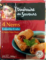 4 nems crevette-crabe et sauce nuoc mam - Product