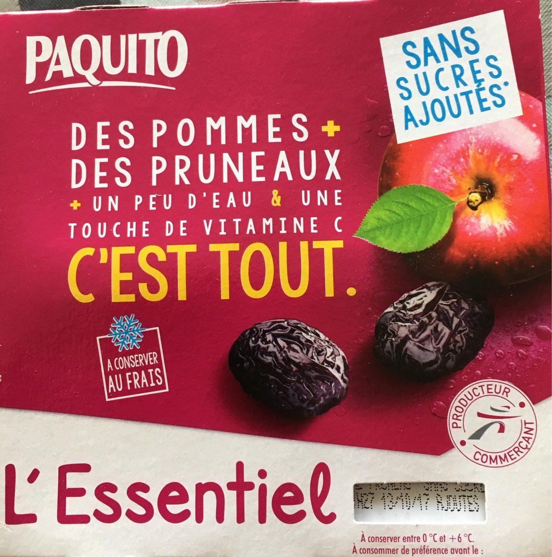Dessert Fruitiers Pommes / Pruneaux 4 x 100 g - Produit
