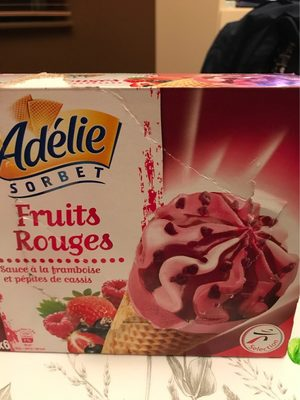 Cône, Sorbets Fruits Rouges, Cassis Fraise Framboise - Nutrition facts