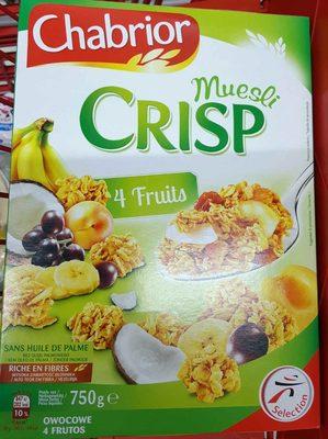 Muesli CRISP 4 Fruits - Produit