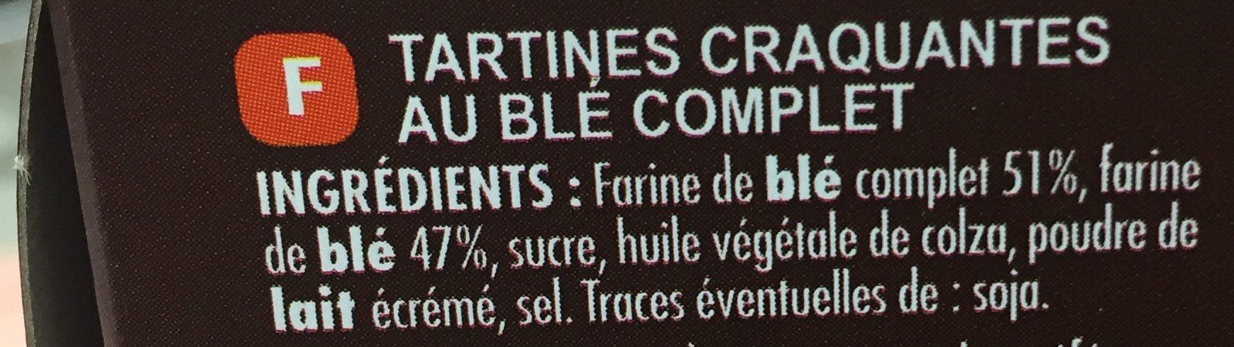 Tartines craquantes blé complet - Ingredienti - fr