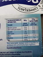 Fromages Frais - Nutrition facts