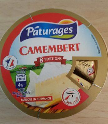 Camembert 8 portions Pâturages - Produit