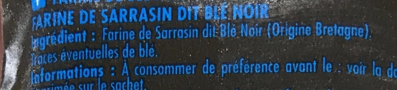 Farine de blé noir de Bretagne - Ingredients - fr