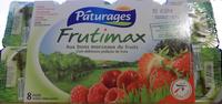 Frutimax Yaourt aux fruits (pêche, abricot, fraise, cerise, ananas, framboise)Colorants d'origine naturelle - Sans conservateur - Lait Français* hors protéines de lait - Produit - fr