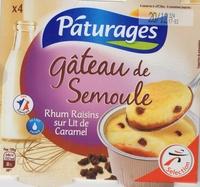 Gateau semoule Rhum raisins sur lit de caramel - Product - fr