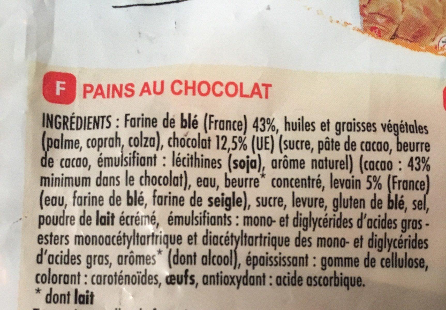 10 pains au chocolat au levain - Ingrédients - fr