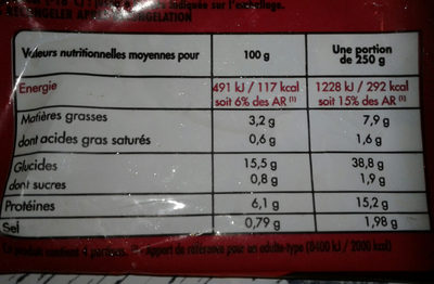 Paëlla - Nutrition facts