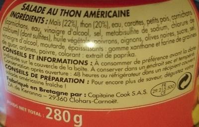 Salade au thon américaine - Ingrédients