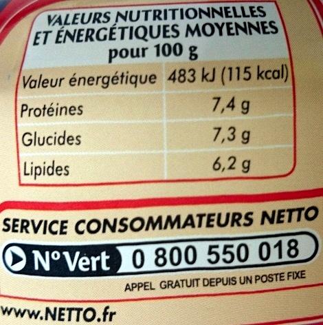 Salade au thon américaine - Informations nutritionnelles - fr