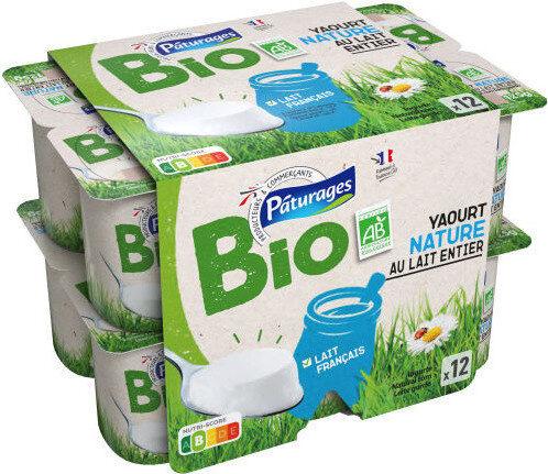 Yaourts nature au lait entier bio - Produit - fr