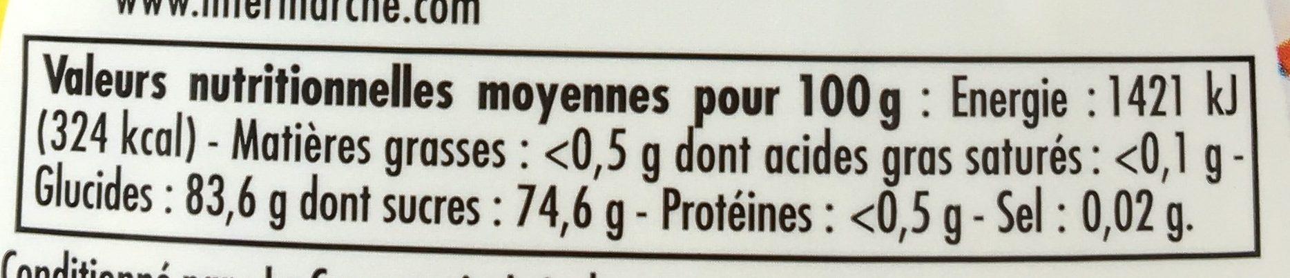 Miel de fleurs - Nutrition facts