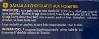 Brownie choco noisettes - Ingrediënten