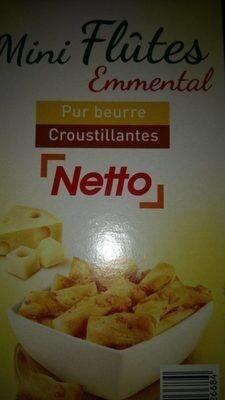 Netto Mini Flutes Crackers Emental - Product - fr