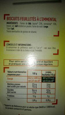 Netto Mini Flutes Crackers Emental - Ingredients - fr