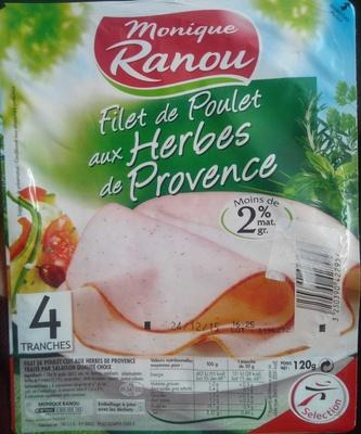 Filets de Poulet aux Herbes de Provence - 4 Tranches - Produit - fr