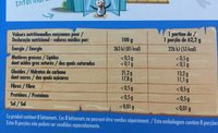 Space One - Informations nutritionnelles - fr