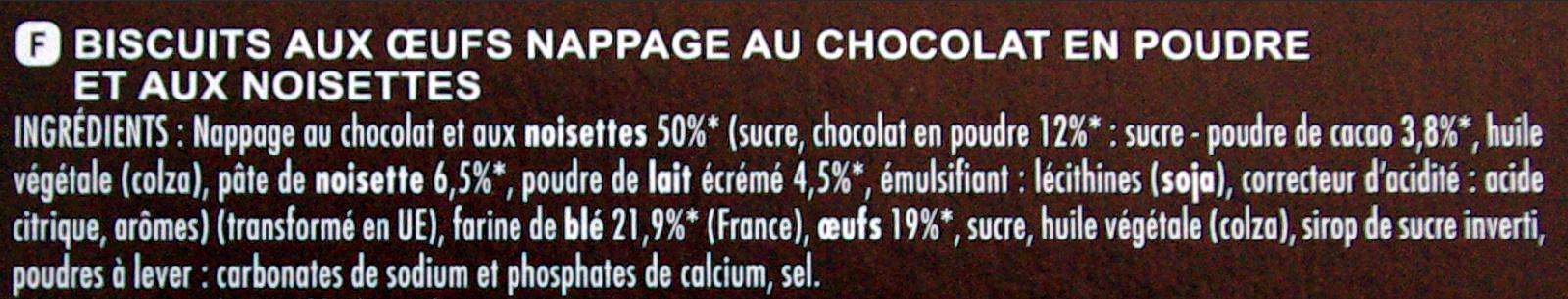 Kanoë parfum chocolat noisette - Ingrédients - fr