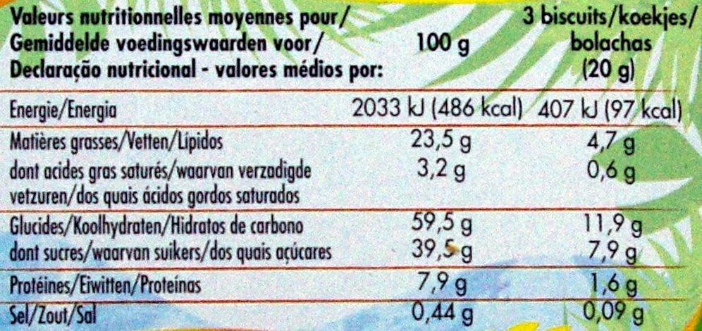 Kanoë parfum chocolat noisette - Informations nutritionnelles - fr