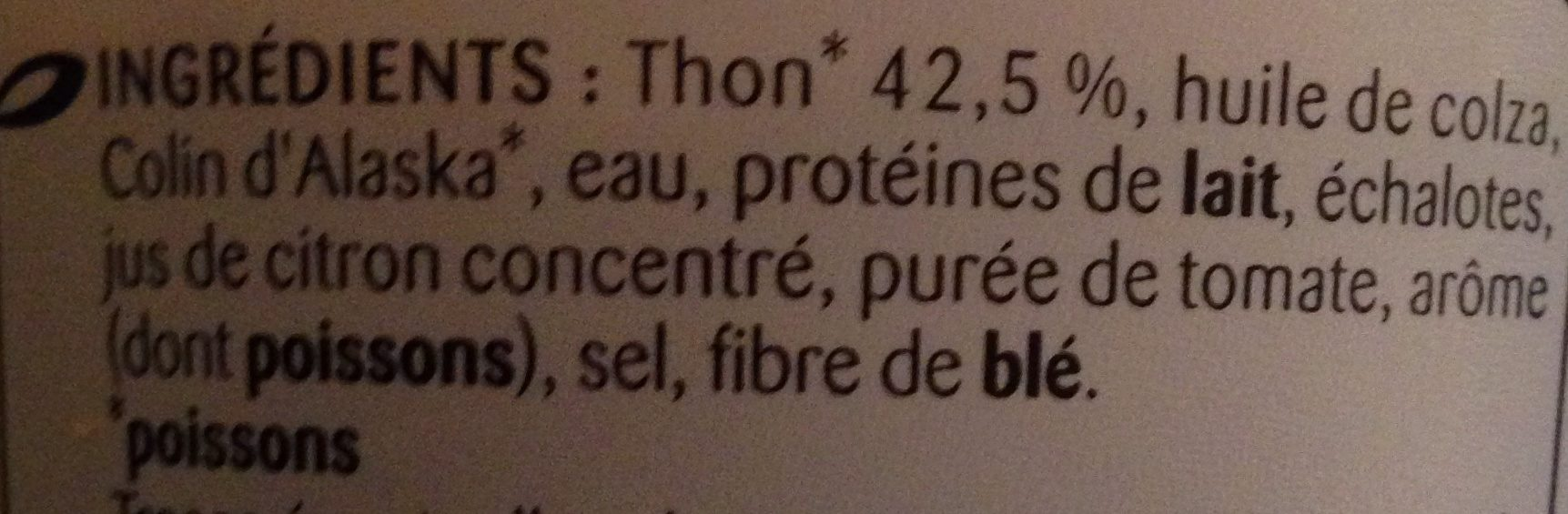 Rillettes de thon - Ingredients