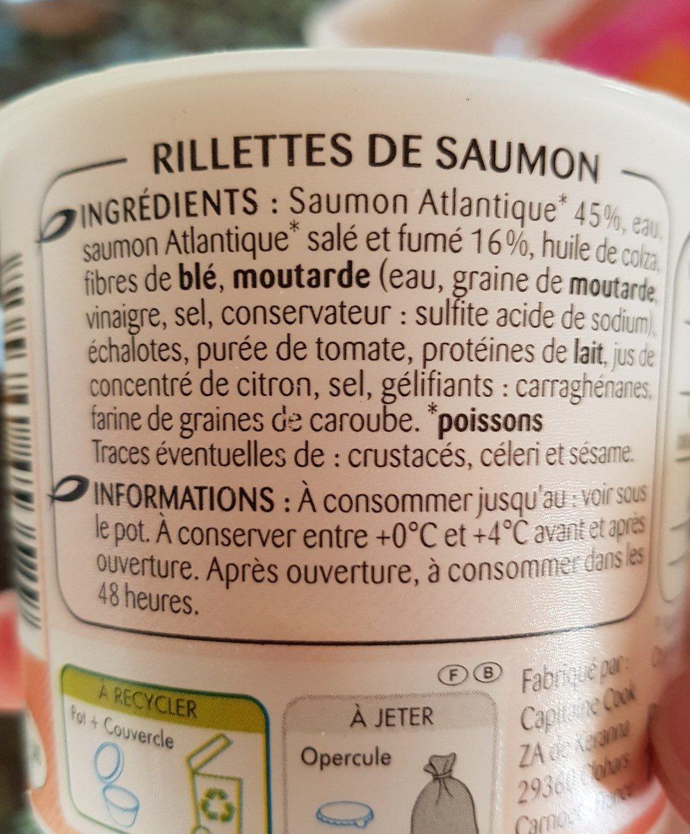 Rillettes de saumon - Ingredients